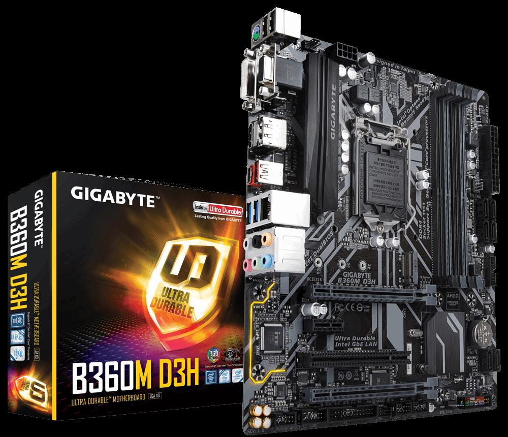Gigabyte B360M D3H- Socket 1151v2