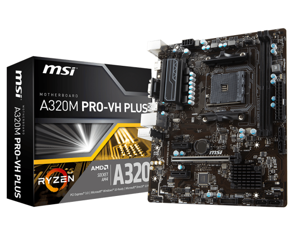 MSI A320M PRO-VH PLUS - SOCKET AM4