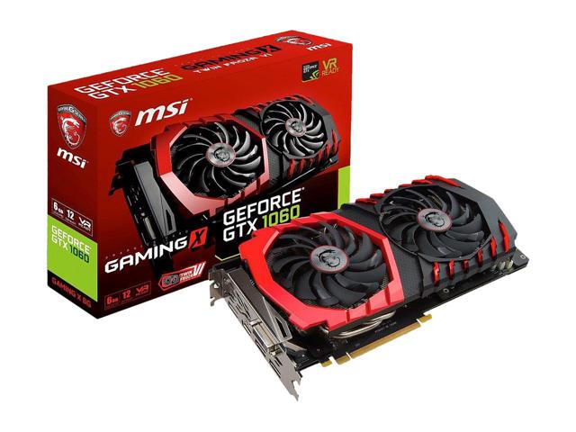 MSI NVIDIA GEFORCE GTX 1060 GAMING X 6GB( 192 BIT ) DDR5