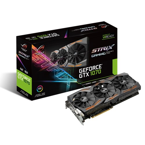 ASUS NVIDIA GEFORCE GTX 1070 STRIX OC RGB LED 8GB ( 256 BIT ) DDR5