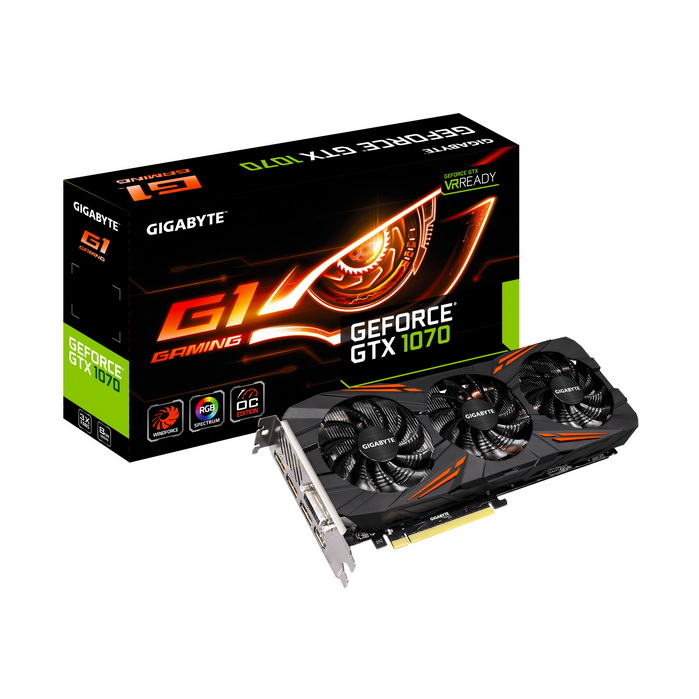 GIGABYTE NVIDIA GEFORCE GTX 1070 G1 GAMING 8GB ( 256 BIT ) DDR5