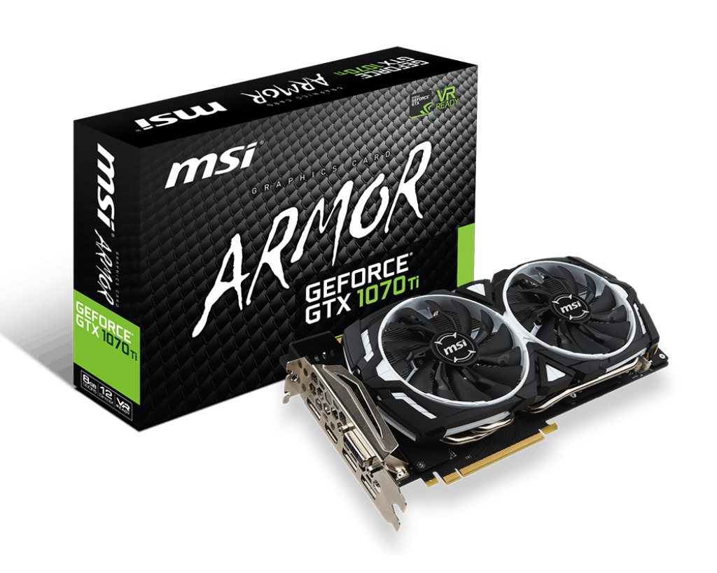 MSI NVIDIA GEFORCE GTX 1070 TI ARMOR 8GB (256 BIT) DDR5