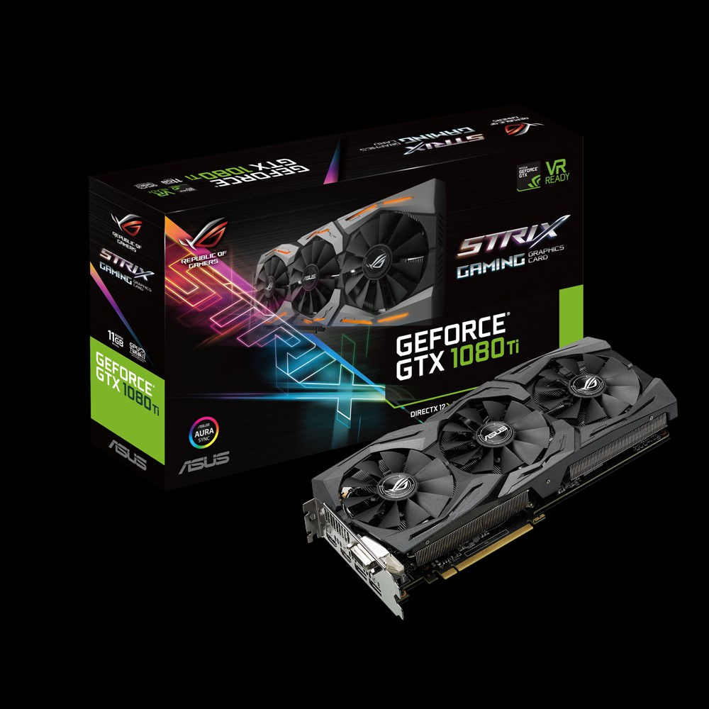 ASUS NVIDIA GEFORCE GTX 1080TI ROG STRIX 11GB ( 352 BIT ) DDR5