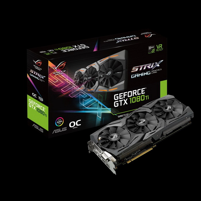 ASUS NVIDIA GEFORCE GTX 1080TI ROG STRIX OC 11GB ( 352 BIT ) DDR5
