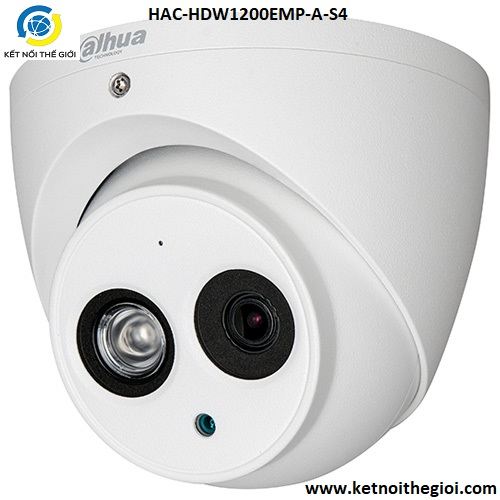 Camera Dahua HAC-HDW1200EMP-A-S4 2.0 Megapixel, IR 50m, F3.6mm, OSD Menu, Micro, Camera 4 in 1