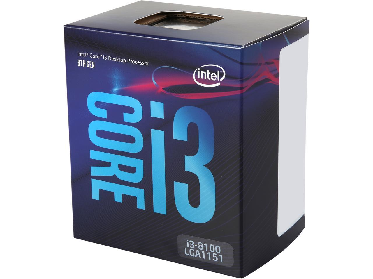 Intel Core i3-8100 Coffee Lake Quad-Core 3.6 GHz LGA 1151v2